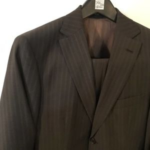 Brown Pinstripe Hugo Boss Suit Size 38S